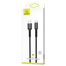 CABO DADOS USB <-> USB-C SUPER-CHARGER 5A 1,2M USAMS PRETO - 2002.1792