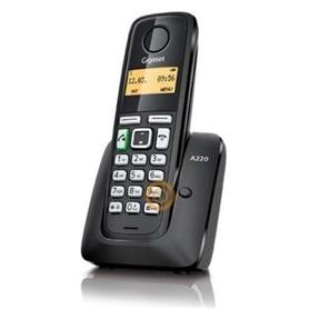 TELEFONE SEM FIO SIEMENS GIGASET A220 PRETO MÃOS LIVRES - 2003.0298