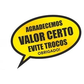 Sinalética Vinil Autocolante: Troco Certo - Balão Fala - 2004.0399