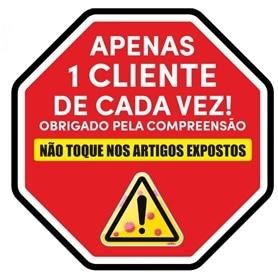 Sinalética Placa PVC: Limitador Clientes - Não tocar Artigo - 2004.0395
