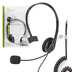 HEADSET PARA TELEFONE COM FIO NEDIS - 2004.1051
