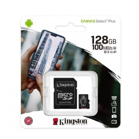 CARTAO MICRO SD 128GB+ADAPT CLASSE 10 100Mbs KINGSTON - 2004.2705