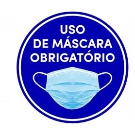 Sinalética Vinil Laminado: Uso de Máscara Obrigatório 40cm - 2005.1990