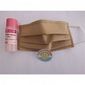 Máscara Reutilizável Anti-Bacteriana + Gel + Sticker Beje - 2004.2098