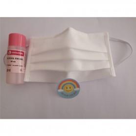 Máscara Reutilizável com Proteção Anti-Bacteriana Branca - 2004.2097