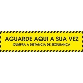Sinalética Vinil Laminado: Barra Aguarde Aqui 80x20cm - 2005.2390