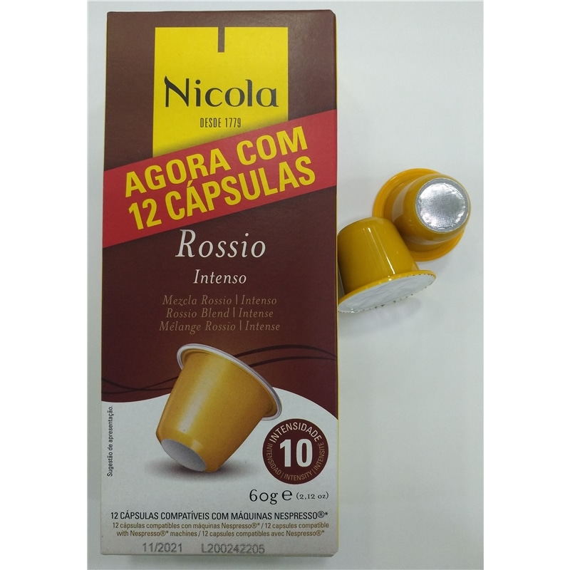 Capsulas compativeis Nespresso Nicola Rossio - 2005.2750