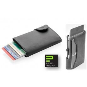 Carteira Cartões C-SECURE RFID 1707 PRETO - 2007.1406