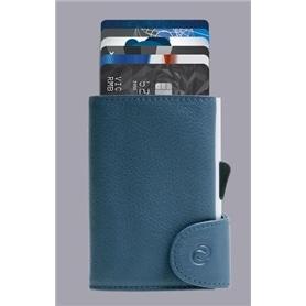 Carteira cartões C-SECURE RFID 1706A NAVY BLUE - 2007.1408