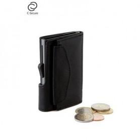 Carteira Cartões C-SECURE Vintage Coin Pocket 75C07C Black - 2007.1419