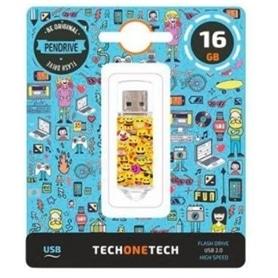 USB DISK PEN DRIVE 16GB - USB 2.0 EMOJIS - 2008.1254