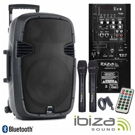 "COLUNA PRO ACTIVA 15"" IBIZA HYBRID 15 VHF-BT - 2009.0150"