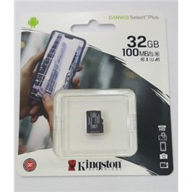CARTAO MICRO SD 32GB CLASSE 10 100Mbs KINGSTON - 2007.1405