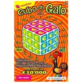 RASPADINHA LA 3 EUROS (428) CUBO DO GALO - A428