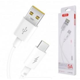 CABO DADOS USB <-> USB-C 5,0A 1,0M XO NB120 BRANCO - 2008.2810