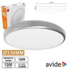2011.0650 - Plafon Redondo 330x100mm LED 18w Branco Natural-2011.0650