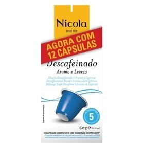 Cápsulas Compatíveis Nespresso Nicola Descafeinado 12und - 2011.2394