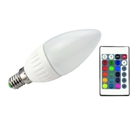 Lâmpada E14 Vela LED 5,5w RGB COM COMANDO - 2011.3055