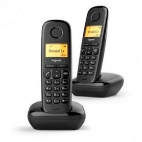 TELEFONE SEM FIO SIEMENS GIGASET A170 DUOS PRETO - 2012.2206