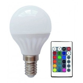 Lâmpada E14 G45 LED Normal 5,5w RGB COM COMANDO - 2011.1850