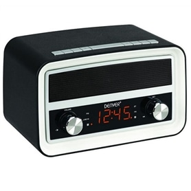RADIO VINTAGE DESPERTADOR VISOR LED DENVER CRB-619 - 2101.2204