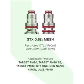RESISTENCIA COIL VAPORESSO GTX 0.6 MESH COIL 5 UNIDADES - 2102.0581
