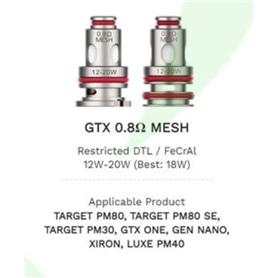 RESISTENCIA COIL VAPORESSO GTX 0.8 MESH COIL 5 UNIDADES - 2102.0583