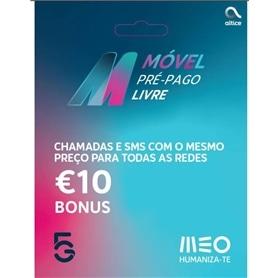 CARTÃO TLM MEO LIVRE VI 2,5€ + 2X5€ - 2103.3199