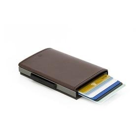 Carteira OGON Cascade Para Cartões Aluminium Pele Brown - 2104.2206