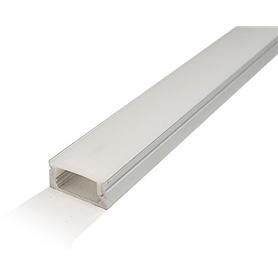 Perfil Aluminio c/ Difusor Opaco p/ Fita LEDs - 2104.2153