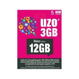 Cartão Telemóvel UZO 500 Minutos + 5GB + 12GB - 2011.3099