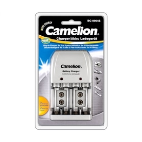 Carregador Pilhas AAA/AA/9V CAMELION BC-0904S - 2105.1051