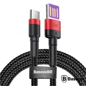 CABO DADOS USB <-> USB-C 5,0A 1,0M BASEUS RED CAFULE - 2106.2301